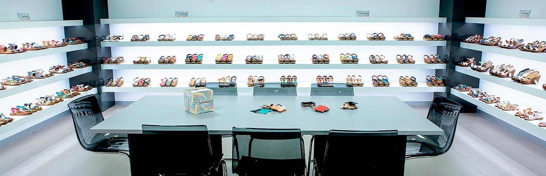 Sala de muestras de calzado