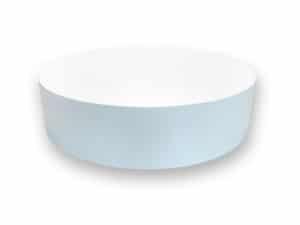 tarima redonda blanca